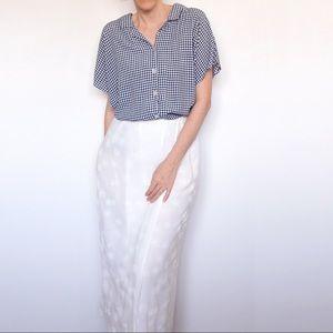 Vintage KATIES White Floral Wrap Midi Skirt Sz 10
